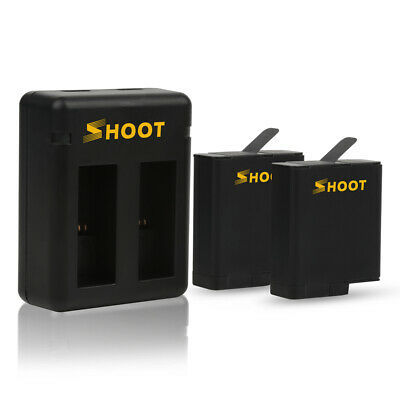 2 Pack of Batteries and Dual Charger for GoPro HERO 6 HERO 5 Black