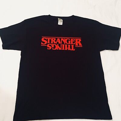 Stranger Things Logo T-Shirt Novelty Upside Down Youth