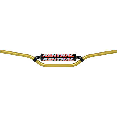 "NEW Renthal Mx RC High Bend 7/8"" SE Bars Gold Motocross Dirt Bike Handlebars"