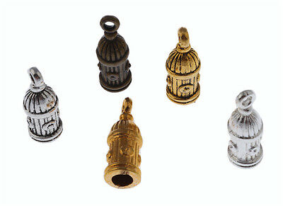 20Pc Vintage End Cap Beads Stoppers DIY Fit 10*4mm Leather Cord Necklace Finding