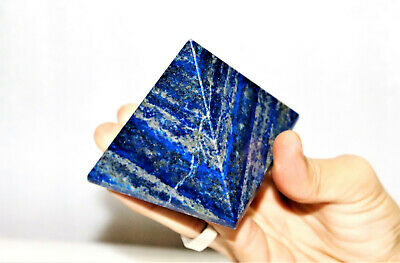 Gorgeous 25MM Blue Lapis Lazuli Healing Power Carved Reiki Meditation Pyramid