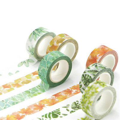 Decorative Adhesive Roll Washi Tape Sticky Paper Masking for Colorful DIY Crafts