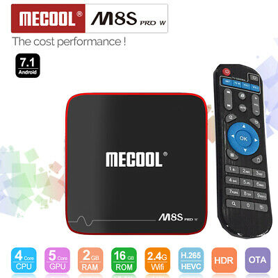 MECOOL M8S PRO W 2Go+16Go Android 7.1 TV BOX S905W Quad Core 4K WiFi HD 3D Media
