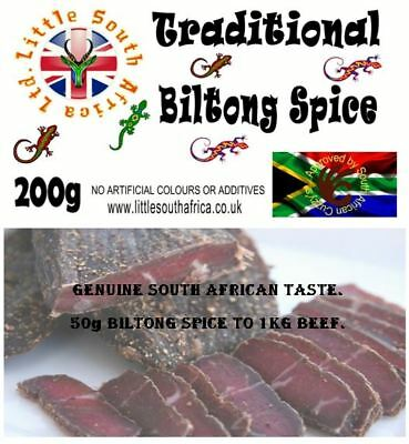 Biltong Spice Traditional 200g Little South Africa