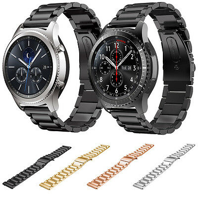 Luxe Stainless Steel Watch Band Strap Link Bracelet For Samsung Gear S3 Frontier