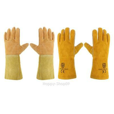 1pair Wear-resisting Safety Gloves Cow Leather Welding Work Protective Gloves
