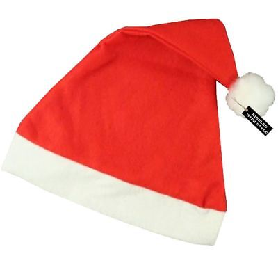 Unisex Red White Xmas Christmas Santa Hat Adult Father Costume Fancy Dress
