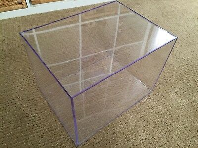 USED BALLQUBE Full Size Football Helmet Clear 2-Piece Large Doll Display Case
