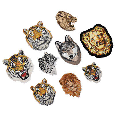 Animal Tiger Embroidery Sew Iron on Patch Applique Clothing Bag Dress DIY Craft