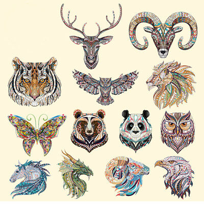 3pcs Iron-on Transfer Clothes Patches Cool 3D Animal Pattern Sticker forT-shirt