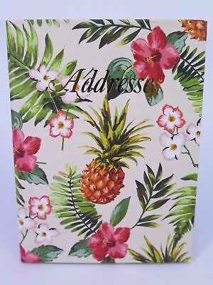 Pineapple Address Book 130 x 100mm Casebound 72 Leaf  Cumberland 766603* ^