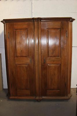 An 18th century walnut wardrobe