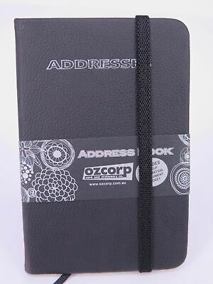 BLACK Mini Address Book 125 x 85mm Indexed Ozcorp AB46* ^