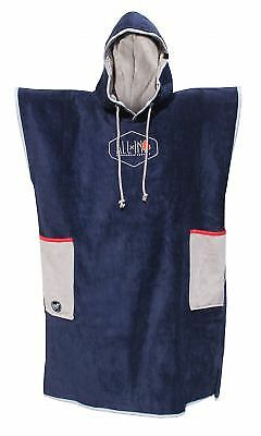 Poncho All In Classic Bumpy Navy Med Grey Red