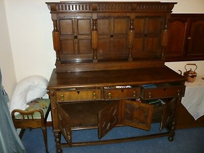 Oak Dresser made from reclaimed wood from Cookhill Church