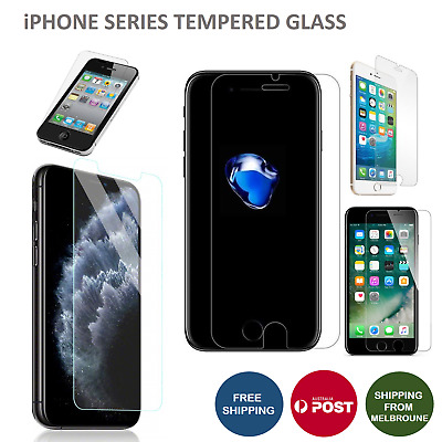 2x New Scratch Resist Tempered Glass Screen Protector for Apple iPhone 6S 8 X 7