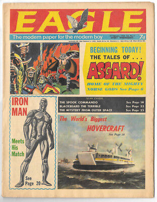 Eagle vol 19 no 7 (17th Feb 1968) Dan Dare, The Iron Man, The Guinea Pig ...