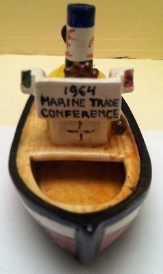 Vintage Rare Mobil Gas Oil Rig Ship Boat 1964 Marine Trade Conference Portugal