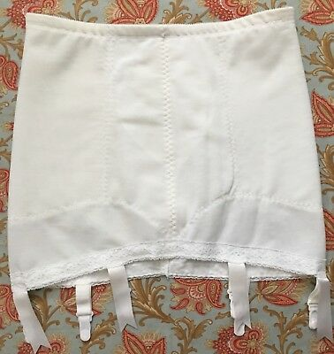 MINT Vintage SUBTRACT *Size 36* Open Bottom Girdle with Satin Garters