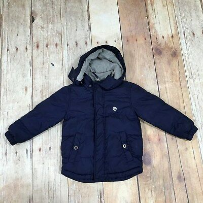 TIMBERLAND Navy Kids Jacket Childrens Boys Waterproof Winter Size UK 5YRS 37580