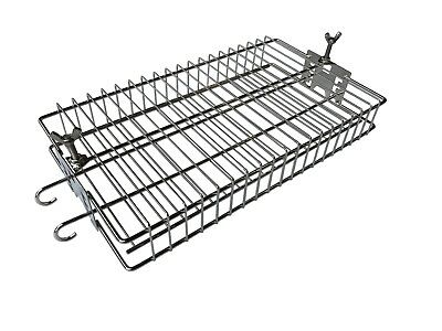 BBQ Rotisserie Cage Tumbler Basket in Stainless Steel