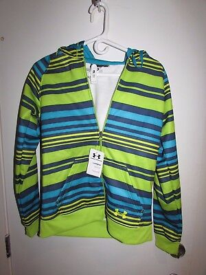 Brand New Under Armour Hoodie With Tags Striped Semi Fit Zip Up Size Sm/P