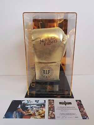 Evander Holyfield Signed Glove Presented In An Acrylic Case: COA