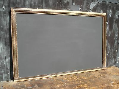 ANTIQUE BLACKBOARD in OLD GILT PAINTED FRAME. Large. Approx 5' x 2'6""