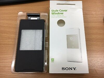 Genuine Sony SCR42 Smart Style Up Cover Case for Xperia Z5 Black 1296-8918