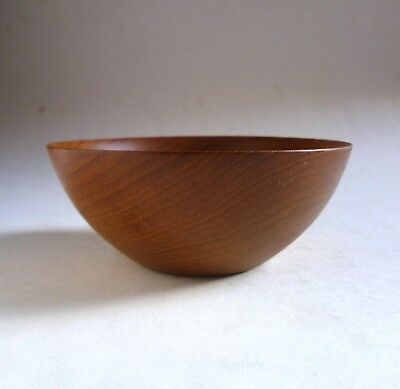 RICHARD RAFFAN Vintage Turned TEAK WOOD BOWL Master Woodturner 1970 David Mellor