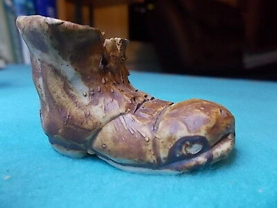 BOOT Small Hand Made Pottery / Clay? Rustic Boot - Cute- 5.5cm x 4cm 🔴50%SALE