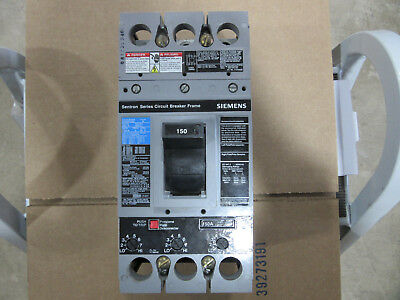 Siemens FD63F250 Circuit Breaker 3P 250A 600V With 150A Trip VGC!! Free Shipping