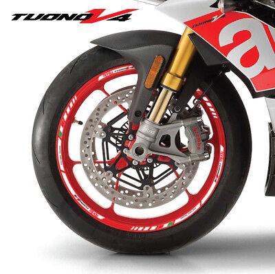 Tuono Factory V4 motorcycle wheel decals rim stickers aprilia stripes Laminated