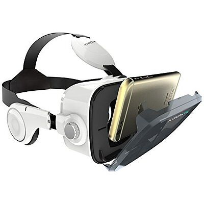 Hyper VR Virtual Reality Headset for 4-6in Smartphone White iphone/android New