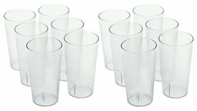Winco Clear Plastic Tumbler/Stackable Restaurant Beverage cup,1-Pack of 12,16 oz