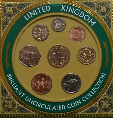 1999 Royal Mint United Kingdom Uncirculated Coin Set Collection