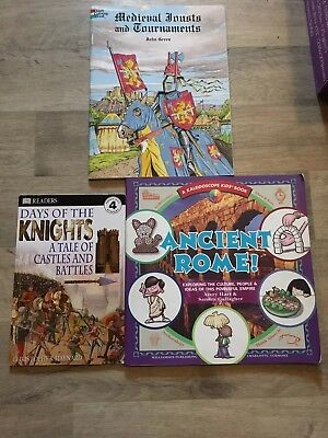 Lot of 3 Ancient and Medieval Times books - homeschool - Ancient Rome, Days of