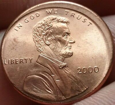 Mis-Strike Mint Error Unc Philadelphia Mint 2000 Lincoln Cent frankyd360 #ERR-6