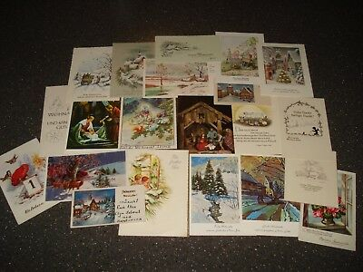 Vintage Christmas Card Greeting Card Lot Of 20 Beautiful German Cards 1950's
