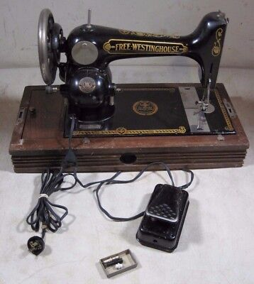 Antique Free Westinghouse Sewing Machine With Case