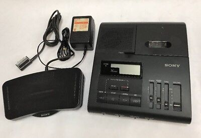 Sony BM-840 Microcassette Transcribing System Transcriber with Foot Pedal +Power