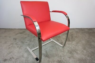 Knoll Studio Mies Van Der Rohe Brno Style Chair In Red Leather