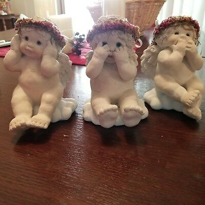 Dreamsicles cherub figurines - HEAR NO EVIL,   SEE NO EVIL,  SPEAK NO EVIL