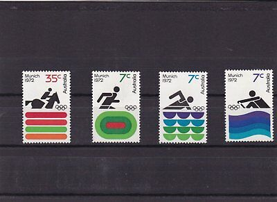Stamp set Olympic Games Munich 1972 olympic games 2 vaklues 4 images