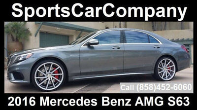 2016 Mercedes-Benz S-Class  2016 MERCEDES BENZ AMG S63 CALIFORNIA 1 OWNER CAR LIKE NEW CALL NOW $105,998!