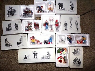 Dept 56 Snow Village Accessories Lot Of 7 New In Box. Pet's On Parade~More
