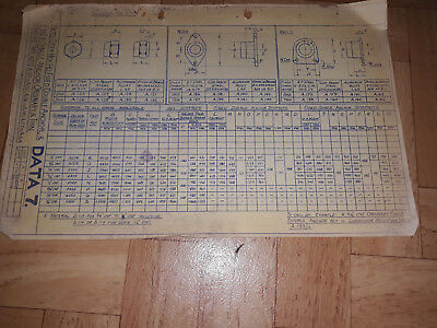 SAUNDERS ROE LTD, East Cowes isle of wight- 1950s blue print data sheet
