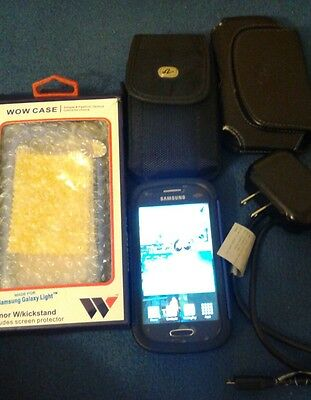 samsung galaxy light t399 used tmobile with case