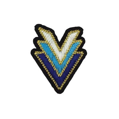 Blue Arrow Trio (Iron On) Embroidery Applique Patch Sew Iron Badge