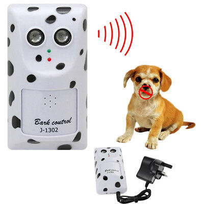 No-Bark Control, Indoor & Outdoor Ultrasonic Stop Dog Barking Device White